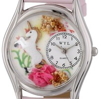 Whimsical Watches Women's S0420001 Unicorn Pink Leather Watch