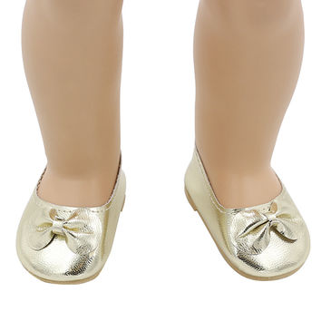 American Girl Doll Shoes Fits 18'' Doll Clothes 15 Colors Patent Leather Shoes With Bow Doll Accessories 15 Colors xie202-220