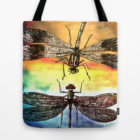 DRAGONFLY meets a Friend Tote Bag by Pia Schneider [atelier COLOUR-VISION]