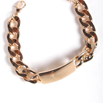 ID Chained Bracelet - Gold