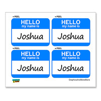 Joshua Hello My Name Is - Sheet of 4 Stickers