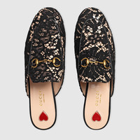 Gucci Princetown lace slipper