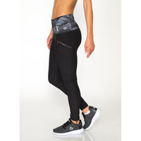 Lumen Seamed Fashion Legging with Printed Waistband and Zip Side Pockets