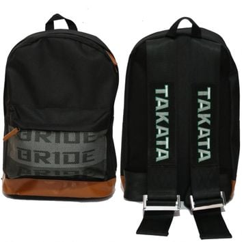 BLACK STRAP LIMITED EDITION Bride & Takata Harness Backpack Laptop bag