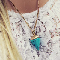 New Moon Turquoise Necklace