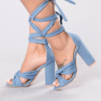 Hit Me Baby Heel - Denim
