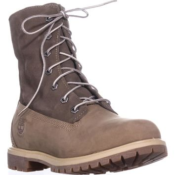 Timberland Teddy Fleece Lace-Up Boots, Light Brown, 11 US / 42 EU