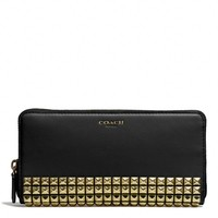 Coach :: New Legacy Accordion Zip Wallet In Studded Leather