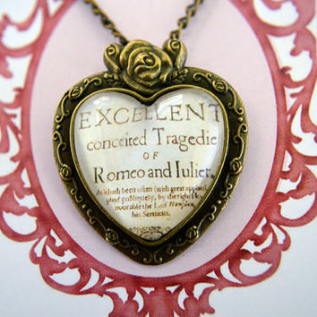 William Shakespeare  - Romeo and Juliet necklace