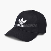 adidas Originals Trefoil Classic Cap Black White Adjustable Strap Hat Gym BK7277
