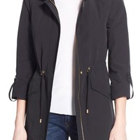 Ellen Tracy Roll Sleeve Sail Cloth Anorak | Nordstrom