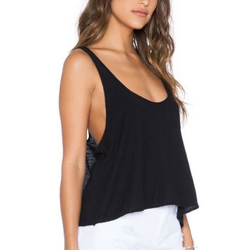 Black  Cross Back Tank Top