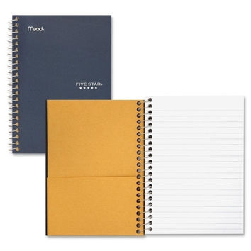 "mead wirebound notebook,college ruled,perforated,5""x7"",assorted Case of 7"