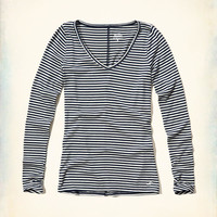 Girls Must-Have Long Sleeve V Neck T-Shirt | Girls Clearance | HollisterCo.com