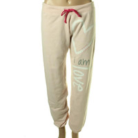 Peace Love World Womens Modal Blend Fleece Lounge Pants