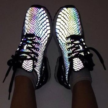 Adidas Zx Flux Reflective Chameleon Sneakers Sport Shoes
