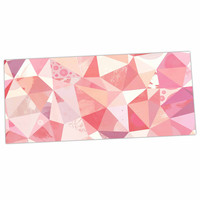 "Nic Squirrell ""Crumpled"" Pink,Geometric Desk Mat"