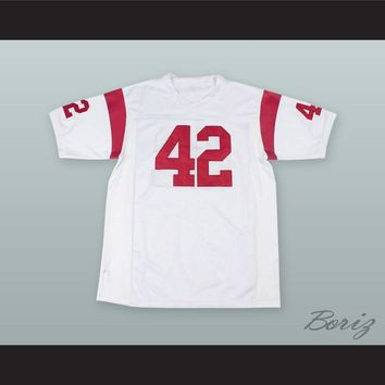 Ricky Baker 42 White Alternate Football Jersey Boyz n the Hood