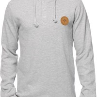 LRG Research Collection Long Sleeve Hooded Henley Shirt