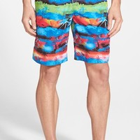 Men's Bugatchi Print Swim Trunks