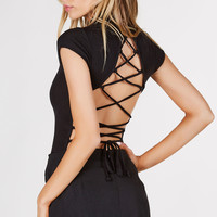 Back At It Lace Up Bodysuit