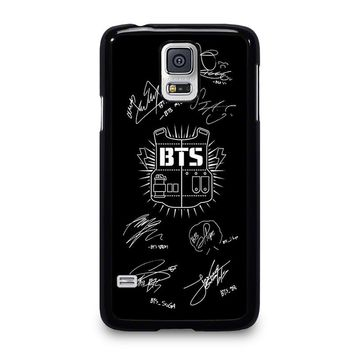 BANGTAN BOYS BTS SIGNATURE Samsung Galaxy S5 Case Cover