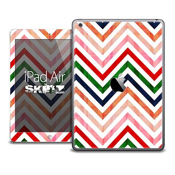The Sharp Fall Colored Chevron Pattern Skin for the iPad Air