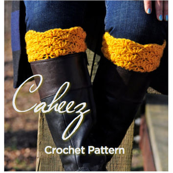 Boot Cuffs CROCHET PATTERN, Lace Crochet Leg Warmers