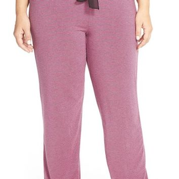 Plus Size Women's DKNY 'Evening' Stripe Lounge Pants,