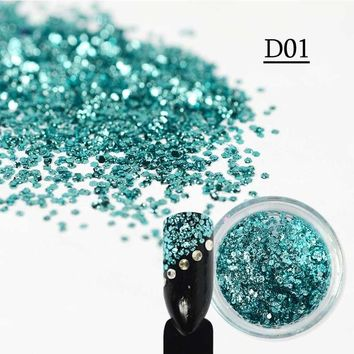 SWEET TREND 1 Bottle Sparkly Sequins Paillette Nail Art Colorful 3D Mermaid Chameleon Slice Nail Art DIY Glitter Tip LAD01-11