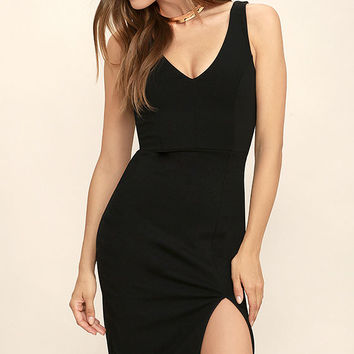 Take My Breath Away Black Bodycon Dress