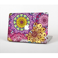 "The Colorful Vector Flower Collage Skin Set for the Apple MacBook Pro 13"" with Retina Display"