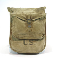 Vintage Military Bag / Vintage Military Backpack