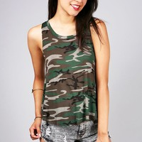 Camouflage Split Tank | Casual Tops at Pinkice.com