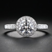 Tiffany & Co 1.00 Carat Diamond Center Engagement Ring - 10-1-5501 - Lang Antiques