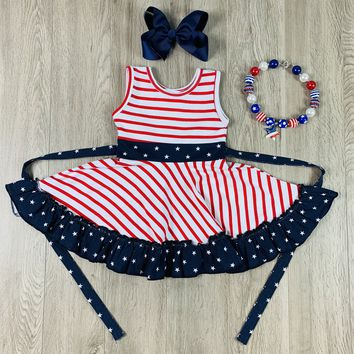 RTS Madeline Kate Patriotic Twirl Dress D69