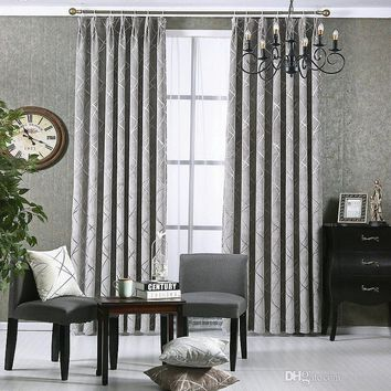 New Style Gold chenille Jacquard  Blackout Window Drapes