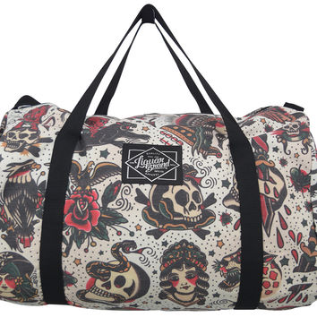 Liquorbrand Flash Americana Tattoo Oversized Duffle Bag