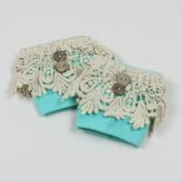 Mint Mini Lace Boot Cuff