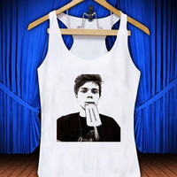 michael clifford 5 second of summer #thetengtop for Tank Top Mens and Tank Top Girls custom