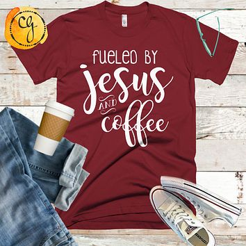Fueled By Jesus and Coffee Jersey Tee