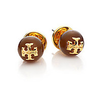 Tory Burch - Cabochon Logo Stud Earrings - Saks Fifth Avenue Mobile