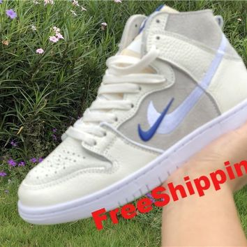 [ Free  Shipping ]Nike SB Zoom Dunk High Pro QS Soulland FRI.day Off White Sail AH9613-141 Basketball Sneaker