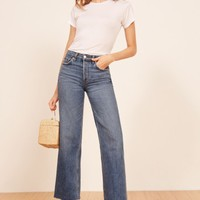 Reformation Fawcett High Waist Crop Jeans | Nordstrom