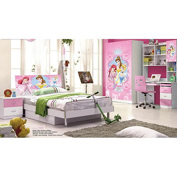 Kids Room Furniture Set Contemporary Design - Disney Frozen PrincessTheme