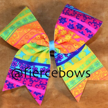 Summer Happiness Cheer Bow