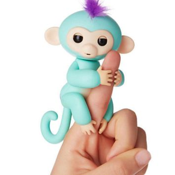 Fingerlings Monkeys Interactive Baby Monkey Zoe Turquoise