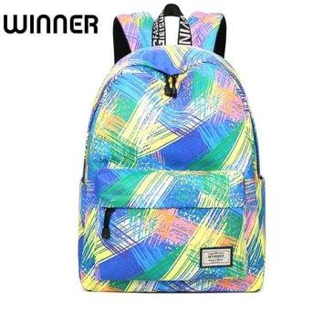 Fashion Women Waterproof Backpack School Bag Personality Printing Large Capacity Girls Knapsack Back Packs Travelling Bags