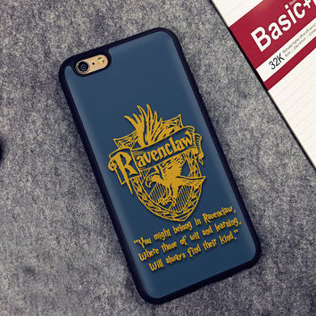 Harry Potter Ravenclaw Printed Soft Rubber Mobile Phone Cases For iPhone 6 6S Plus 7 7 Plus 5 5S 5C SE 4 4S Cover Skin Shell