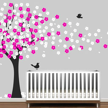 Cherry Blossom Tree - Kids Wall Decal Stickers